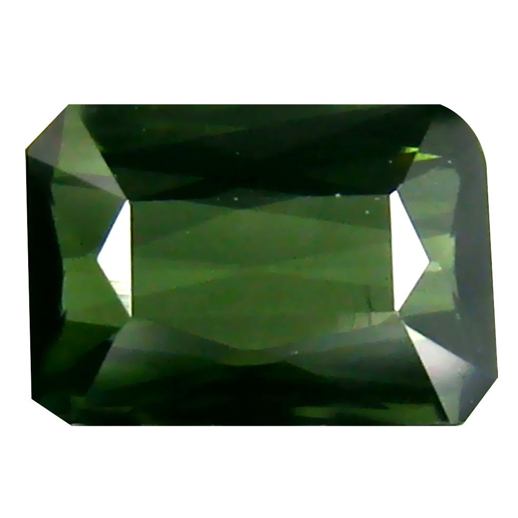 0.99 ct  World class Emerald Shape (7 x 5 mm) Green Tourmaline Natural Gemstone