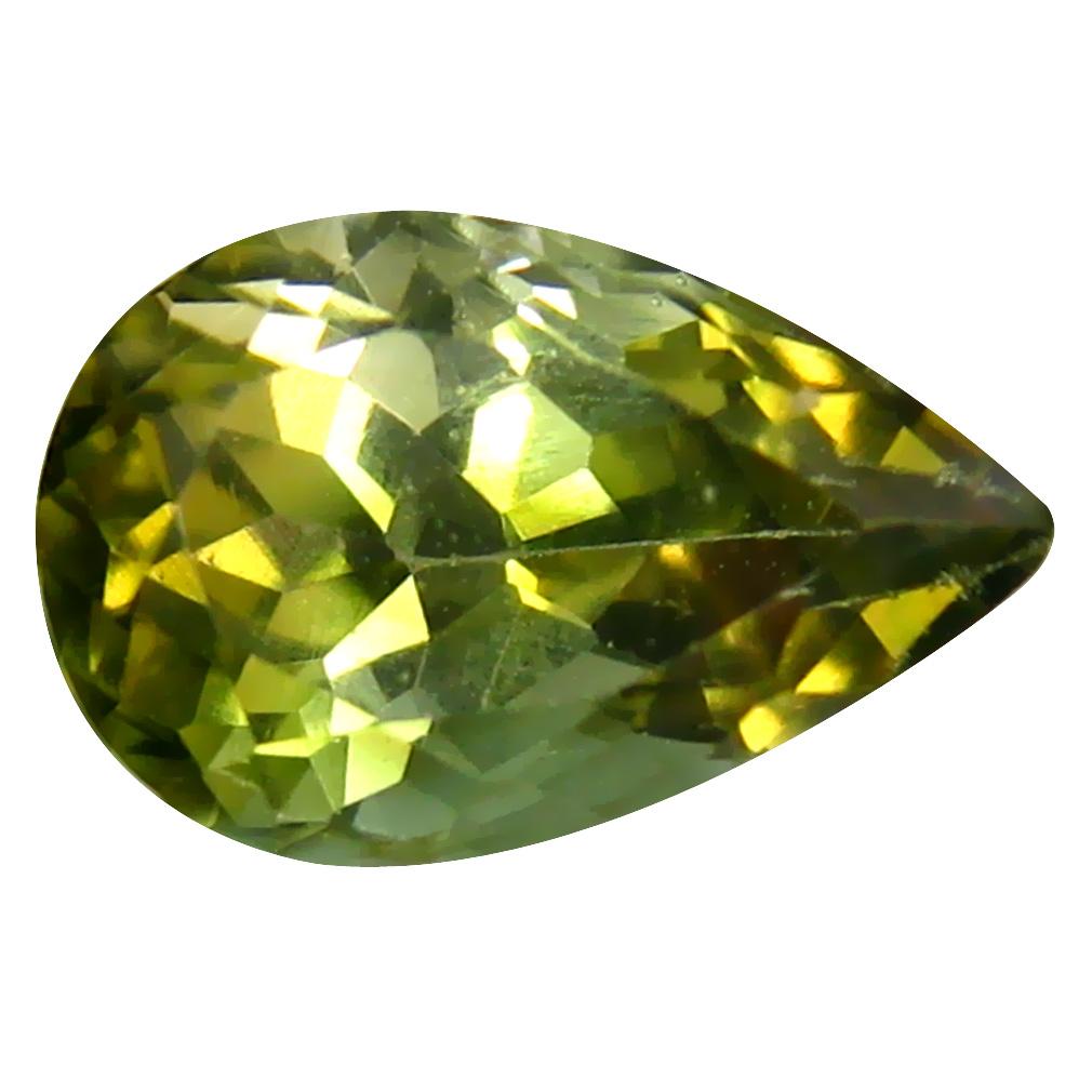1.76 ct  Impressive Pear Shape (9 x 6 mm) Green Tourmaline Natural Gemstone