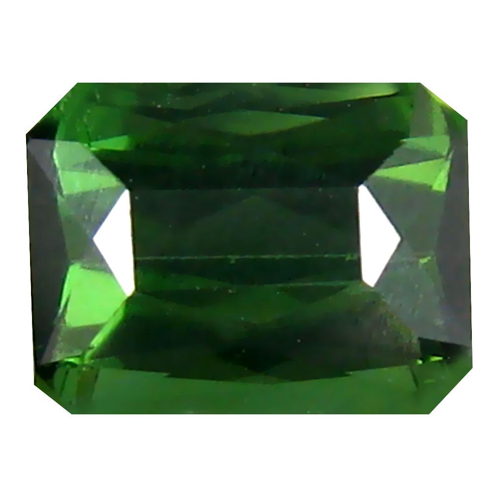 1.02 ct  Best Octagon Shape (6 x 5 mm) Green Tourmaline Natural Gemstone