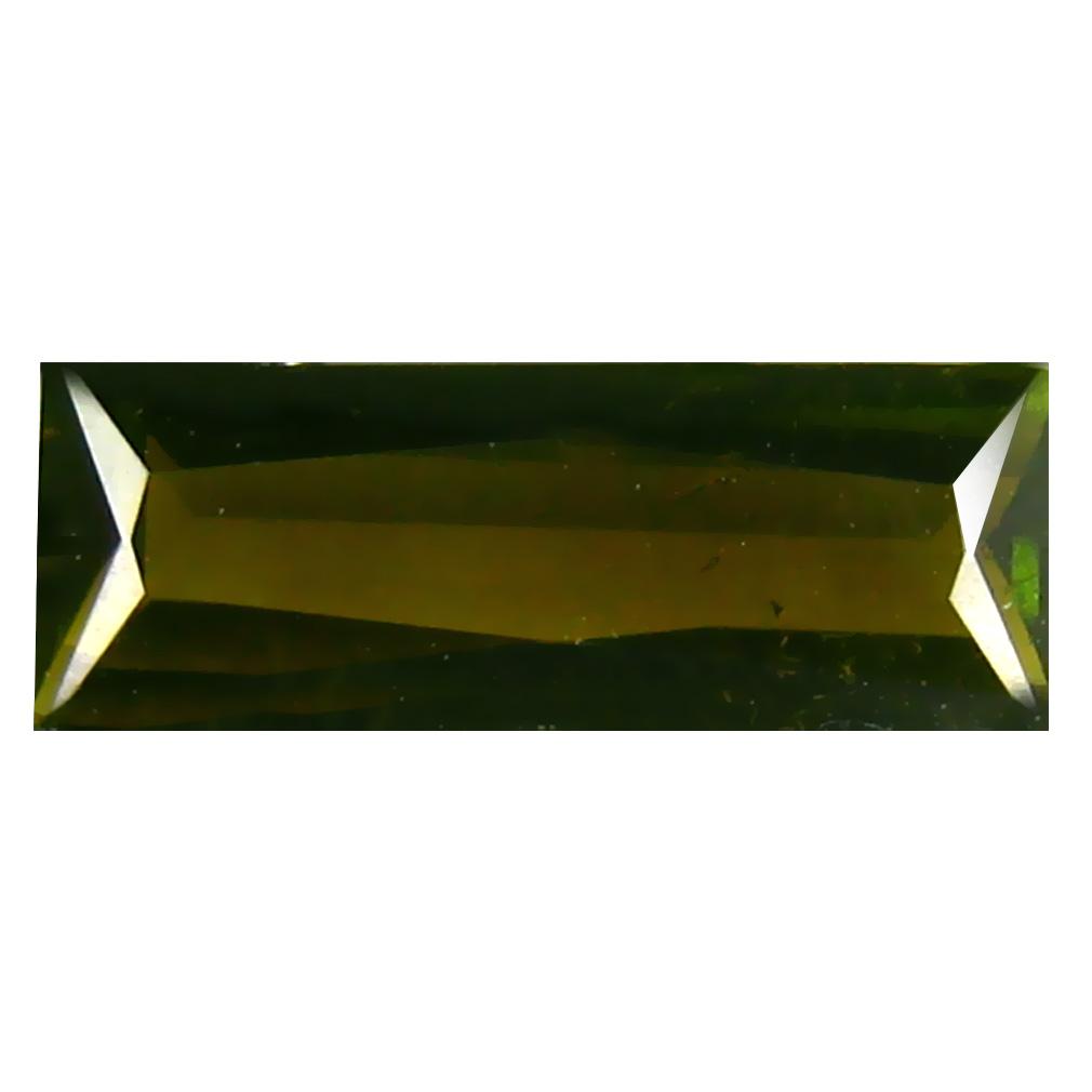 0.95 ct  First-class Emerald Shape (10 x 4 mm) Green Tourmaline Natural Gemstone