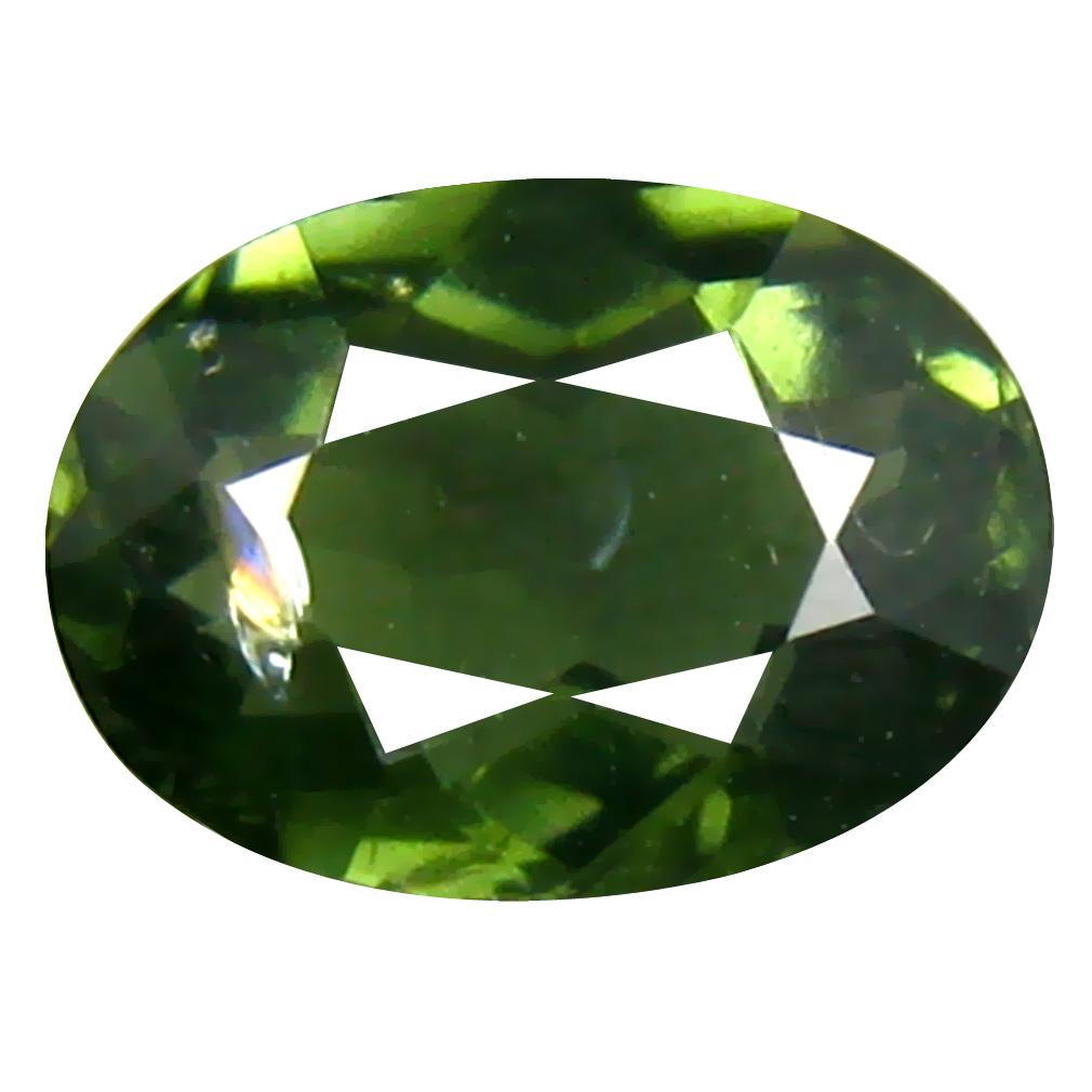 0.90 ct  Beautiful Oval Shape (8 x 6 mm) Green Tourmaline Natural Gemstone