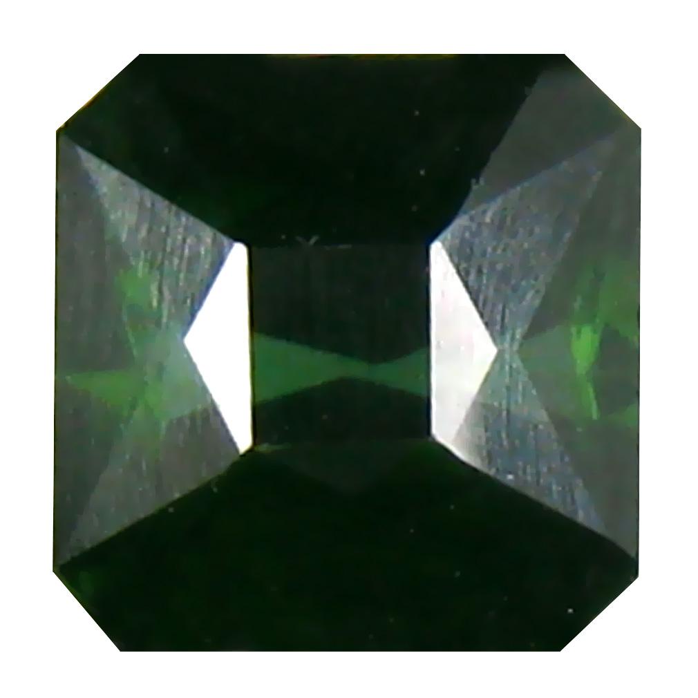 1.35 ct  Premium Emerald Shape (6 x 6 mm) Green Tourmaline Natural Gemstone