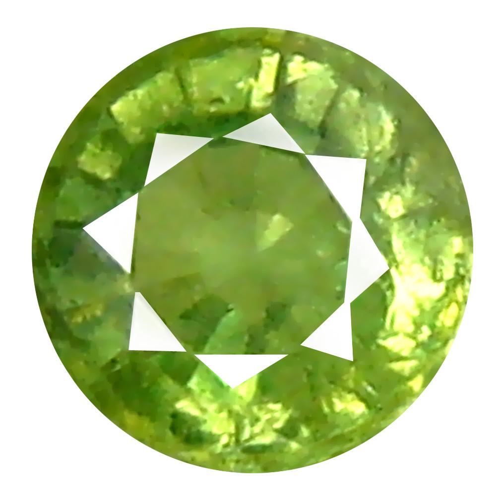 0.33 ct Superior Round Cut (4 x 4 mm) Un-Heated Natural Demantoid Garnet Loose Gemstone