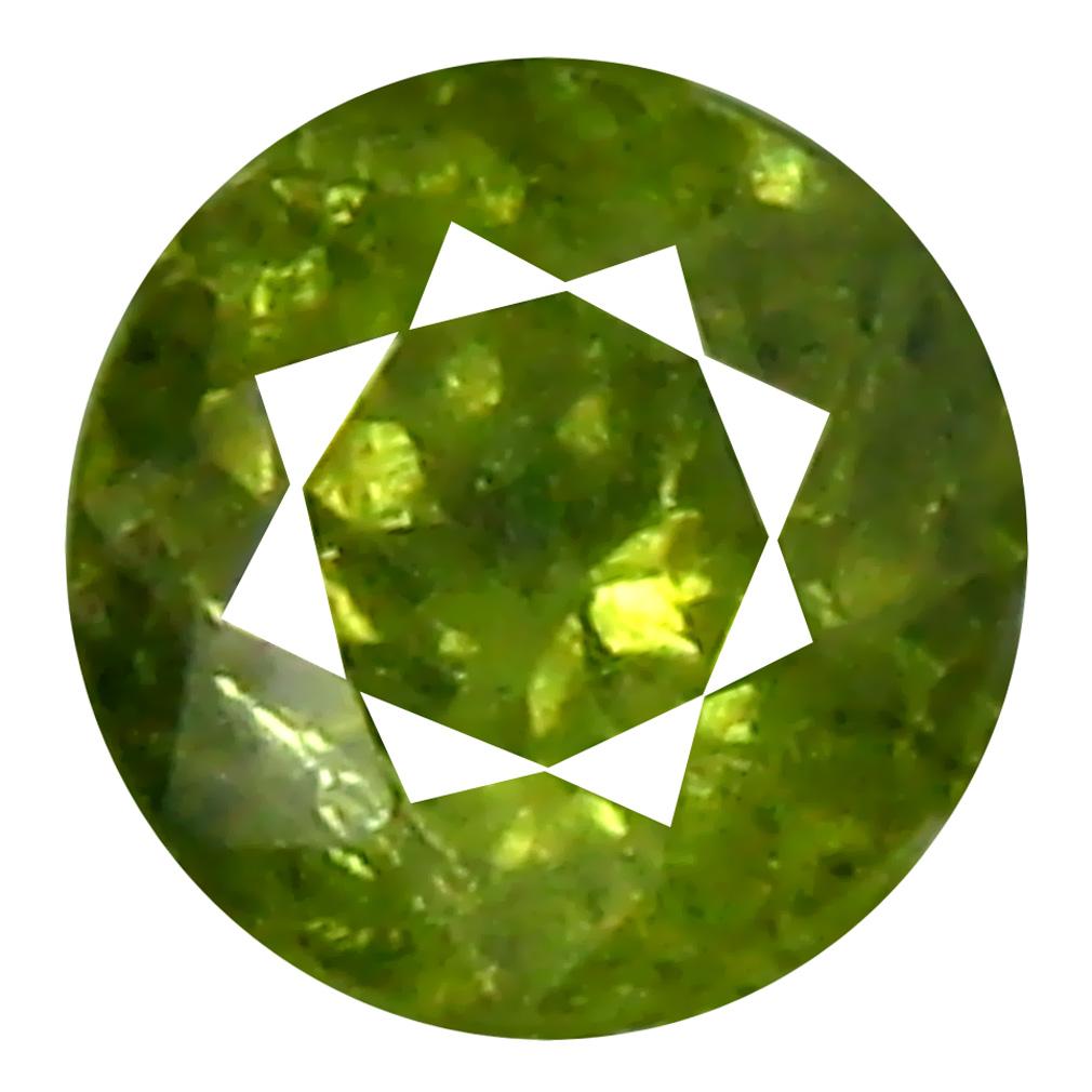 0.37 ct Charming Round Cut (4 x 4 mm) Un-Heated Natural Demantoid Garnet Loose Gemstone