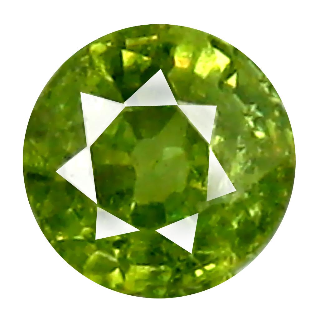 0.35 ct Charming Round Cut (4 x 4 mm) Un-Heated Natural Demantoid Garnet Loose Gemstone