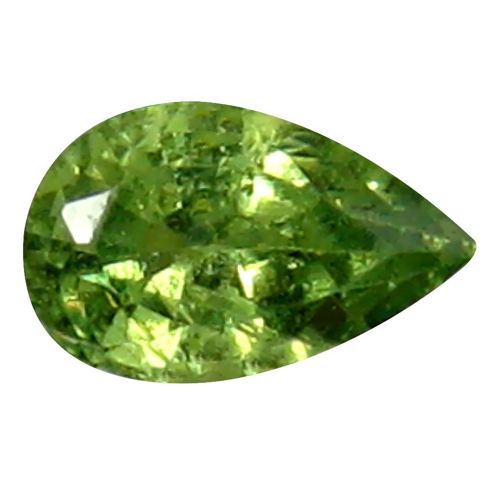 0.29 ct Eye-catching Pear Cut (5 x 3 mm) Un-Heated Natural Demantoid Garnet Loose Gemstone
