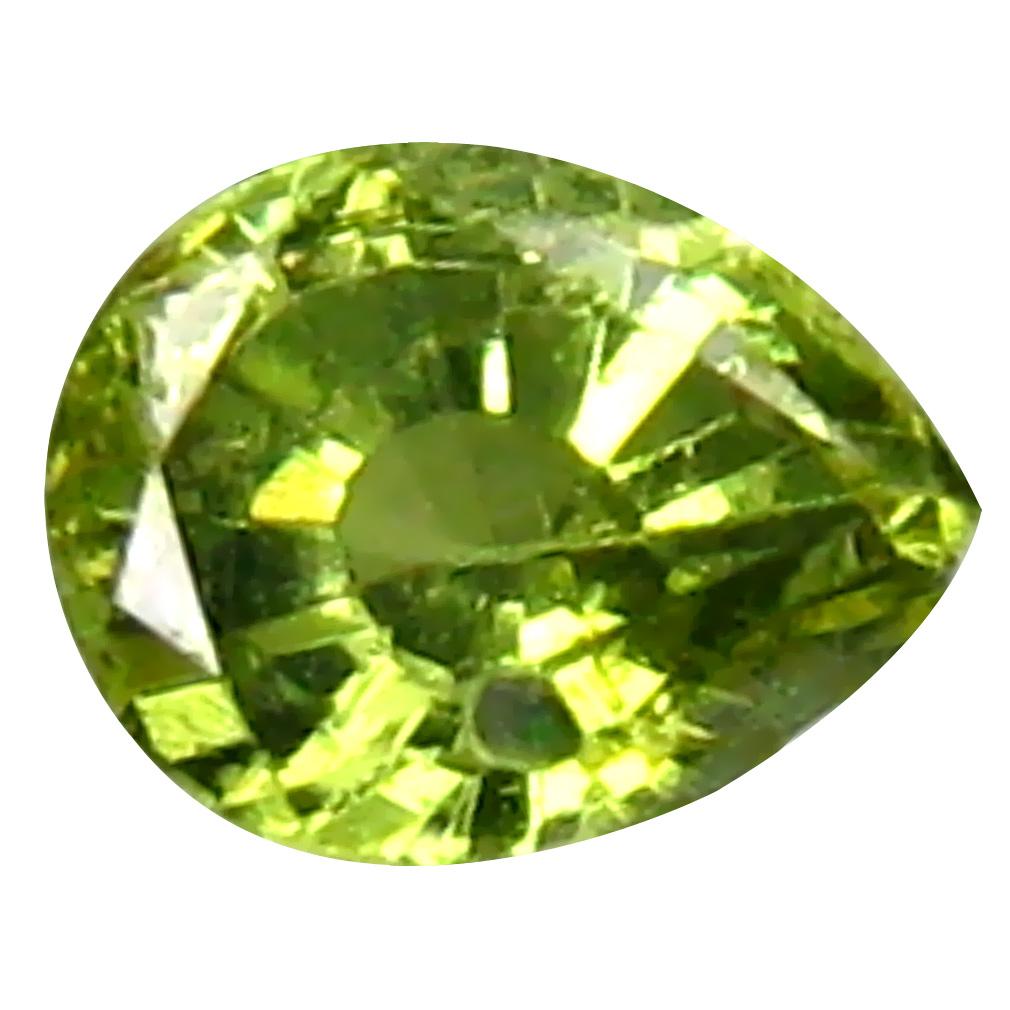 0.31 ct Eye-opening Pear Cut (4 x 3 mm) Un-Heated Natural Demantoid Garnet Loose Gemstone