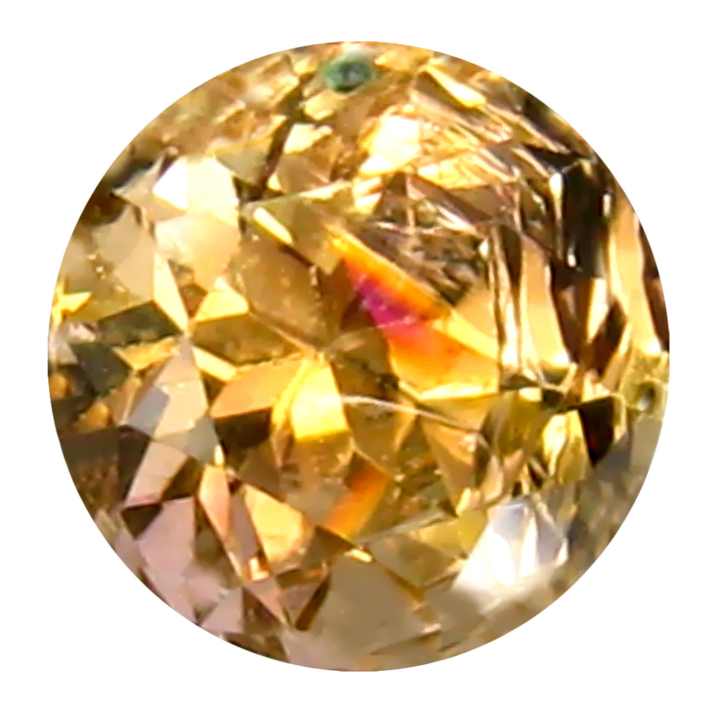 0.72 ct AAA+ Charming Round Shape (5 x 5 mm) Fancy Golden Yellow Tanzanite Natural Gemstone