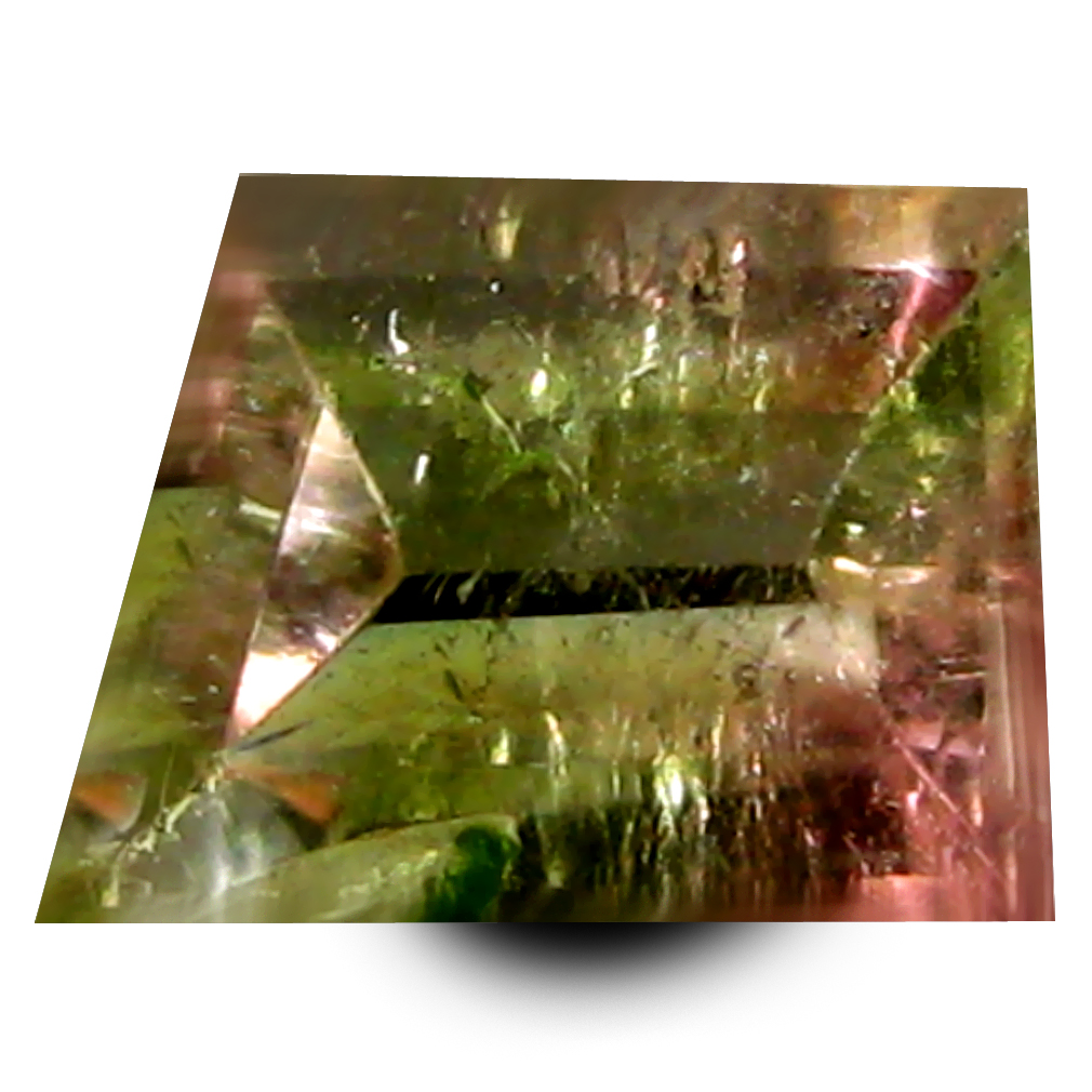 0.99 ct AAA+ Topnotch Fancy Shape (7 x 5 mm) Bi Color Watermelon Tourmaline Natural Gemstone