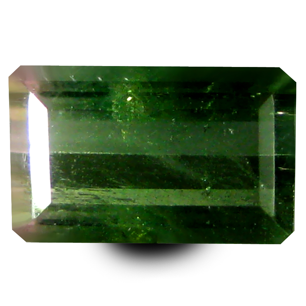 1.62 ct AAA+ Mesmerizing Rectangular Shape (9 x 6 mm) Bi Color Watermelon Tourmaline Natural Gemstone