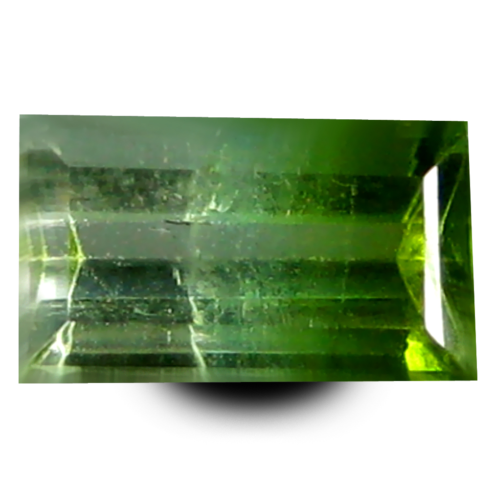 0.76 ct AAA+ Superb Rectangular Shape (7 x 4 mm) Bi Color Watermelon Tourmaline Natural Gemstone