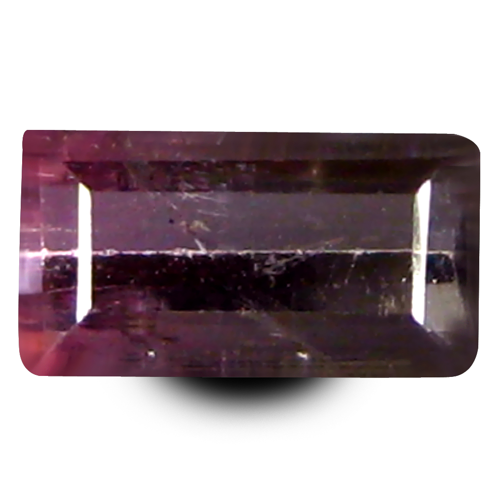 0.45 ct AAA+ Romantic Rectangular Shape (6 x 3 mm) Bi Color Watermelon Tourmaline Natural Gemstone
