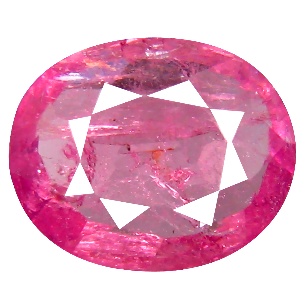 0.97 ct AAA Tremendous Oval Shape (8 x 6 mm) Pink Tourmaline Natural Gemstone