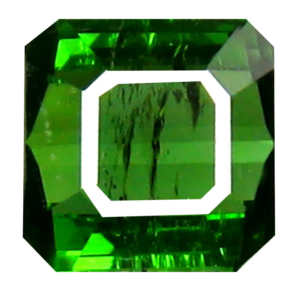 1.33 ct Incomparable Octagon Cut (6 x 6 mm) Un-Heated Green Green Tourmaline Natural Gemstone