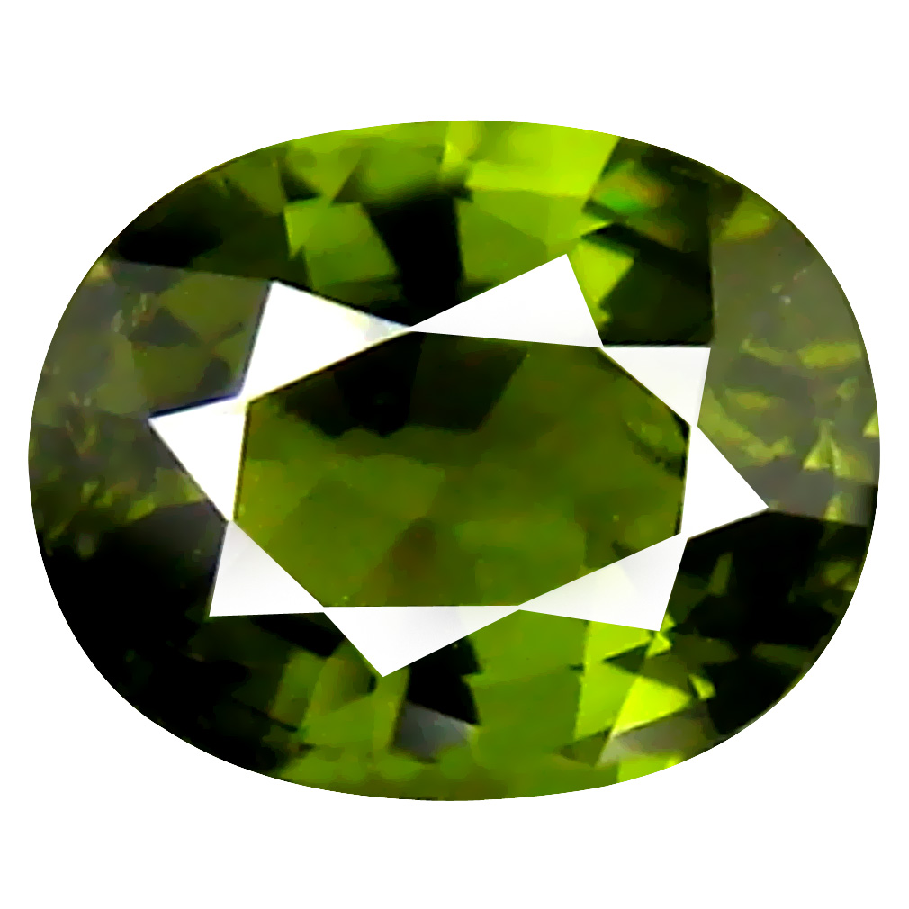 1.03 ct Eye-popping Oval (7 x 6 mm) Un-Heated Mozambique Tourmaline Loose Gemstone