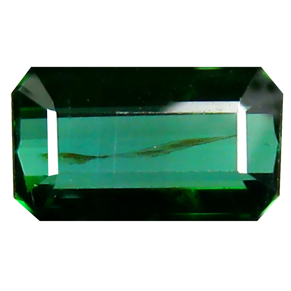 1.71 ct Eye-catching Octagon Cut (9 x 5 mm) Un-Heated Green Green Tourmaline Natural Gemstone