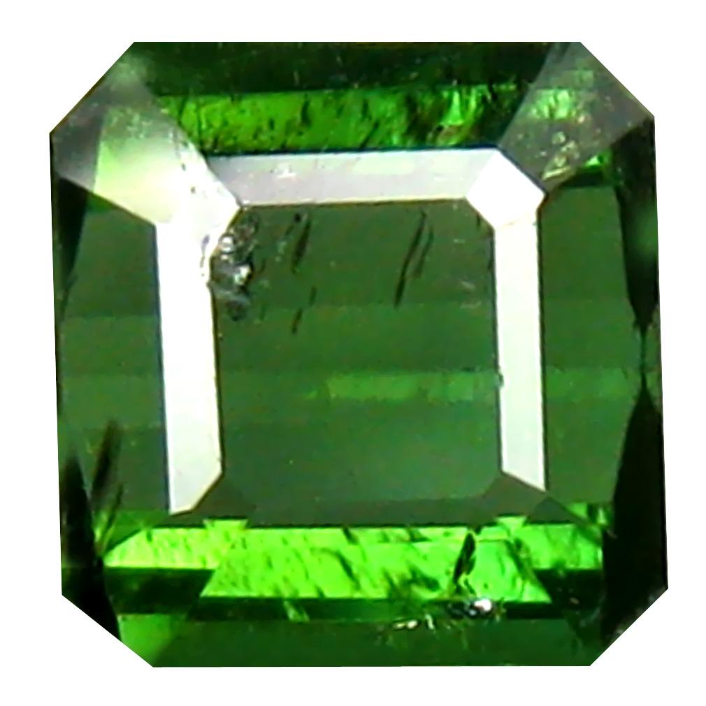 1.70 ct Eye-opening Octagon Cut (7 x 7 mm) Un-Heated Green Green Tourmaline Natural Gemstone