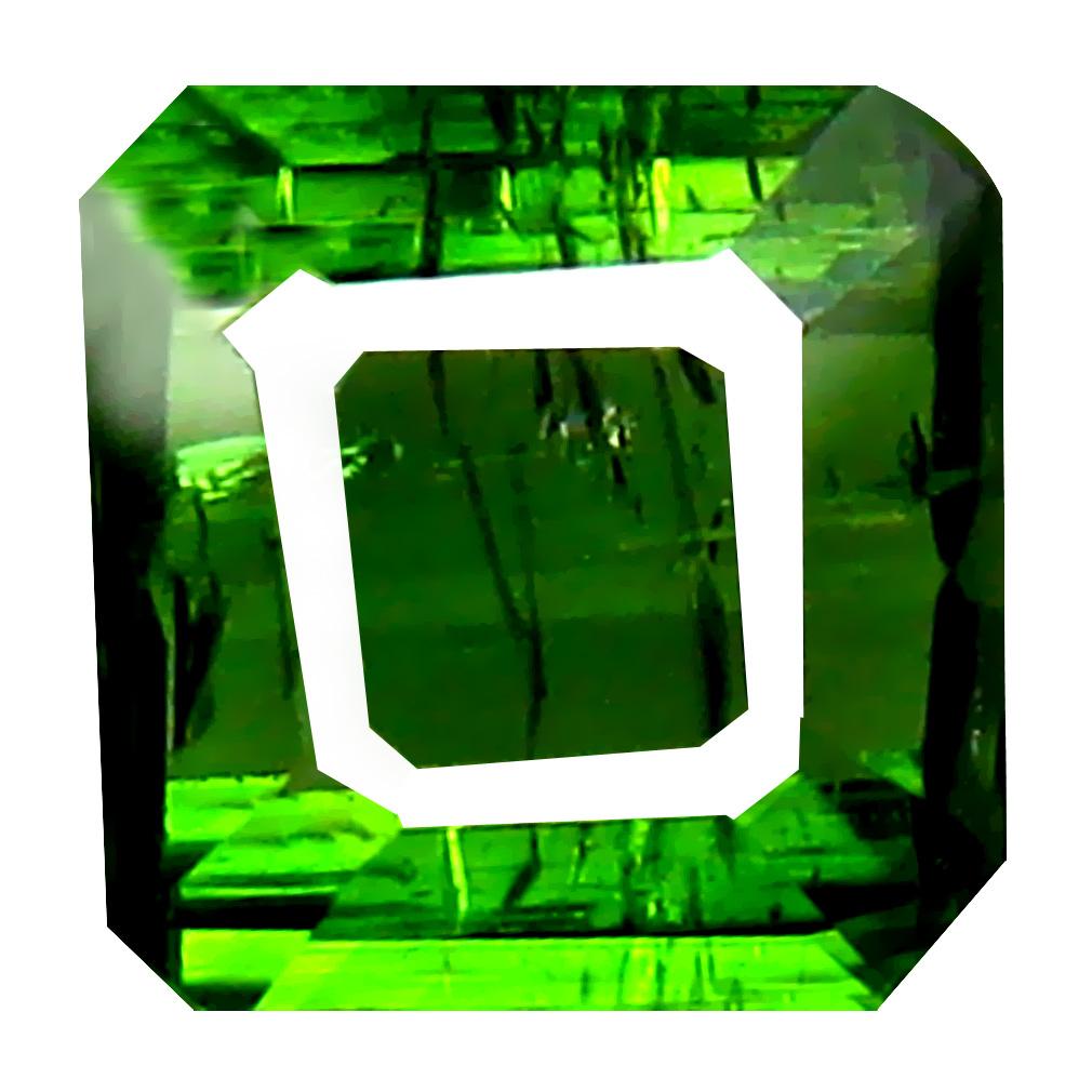 1.93 ct Five-star Octagon Cut (8 x 7 mm) Un-Heated Green Green Tourmaline Natural Gemstone