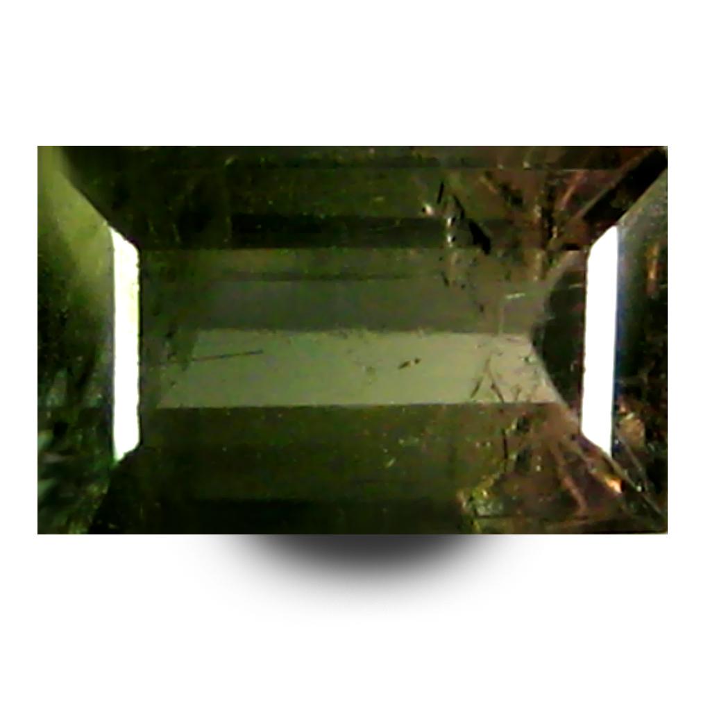 0.88 ct AAA+ Pretty Octagon Shape (7 x 4 mm) Bi Color Watermelon Tourmaline Natural Gemstone