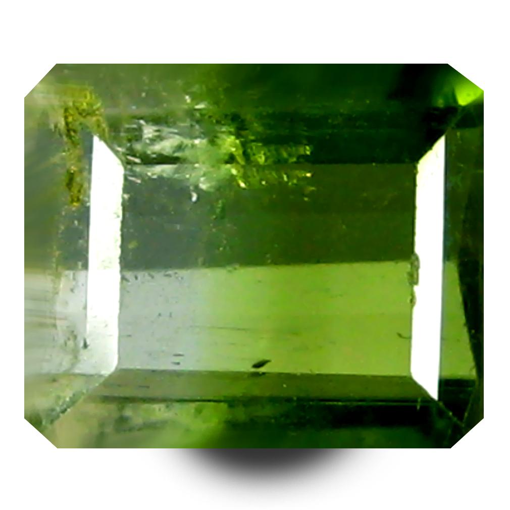 0.82 ct AAA+ Romantic Octagon Shape (6 x 5 mm) Bi Color Watermelon Tourmaline Natural Gemstone