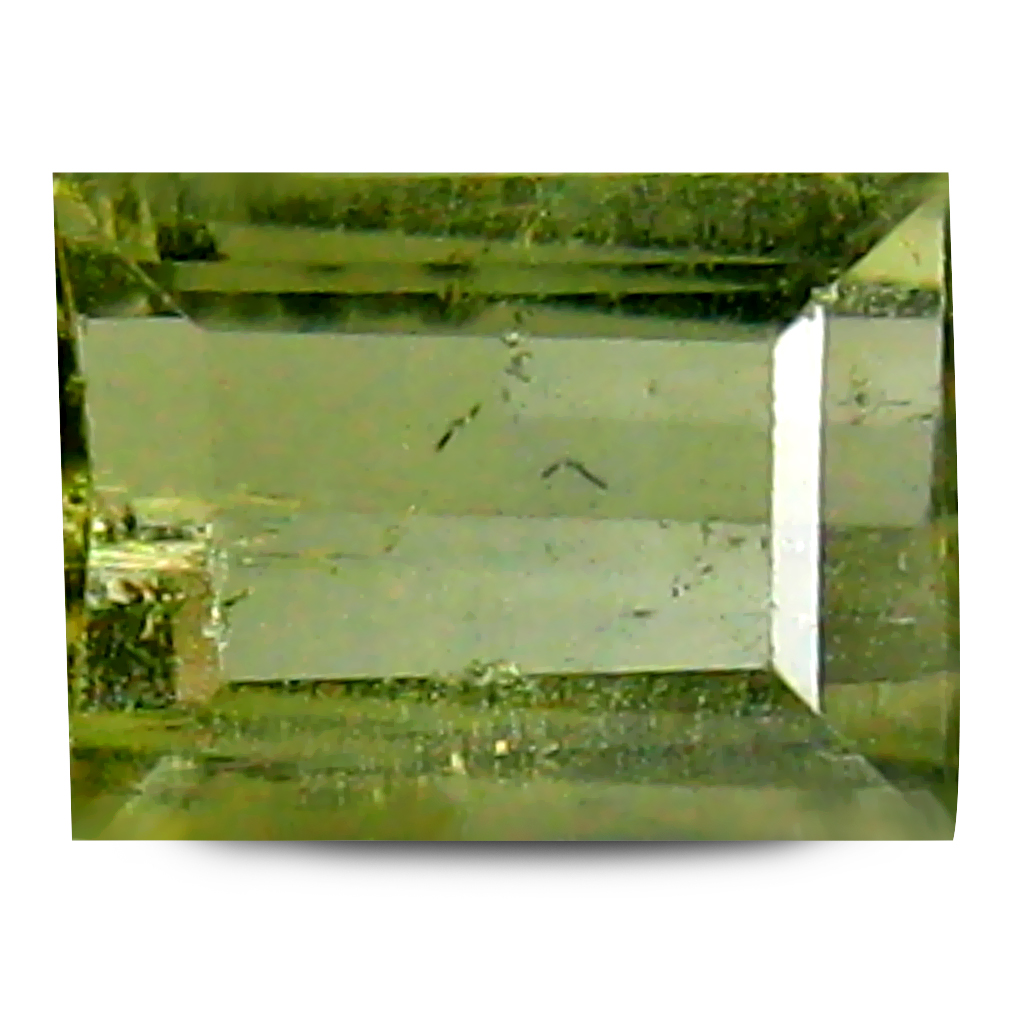 0.98 ct AAA Splendid Rectangular Shape (7 x 5 mm) Natural Green Tourmaline Loose Stone