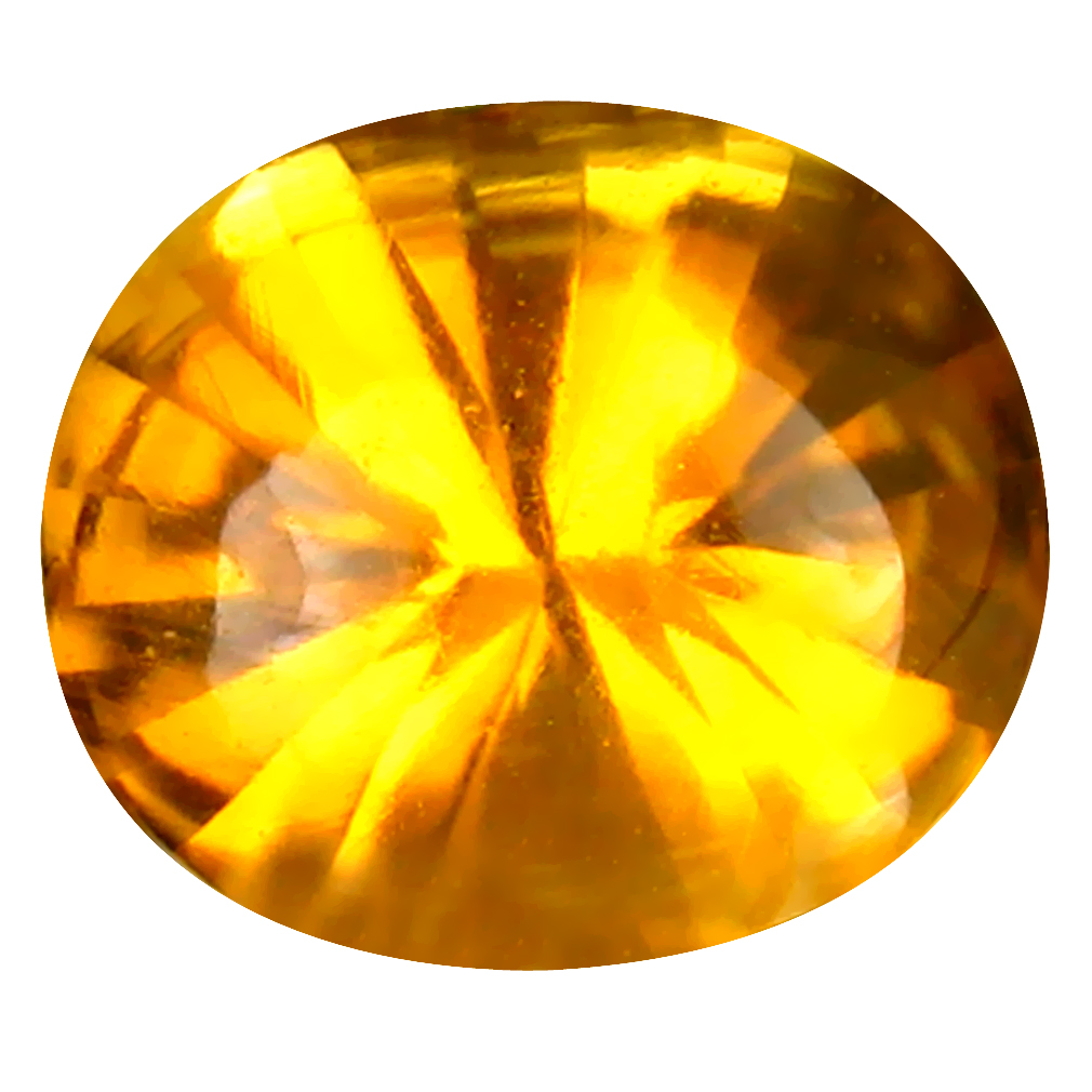 2.35 ct Awe-inspiring Oval (10 x 8 mm) Unheated / Untreated Brazil Madeira Citrine Loose Gemstone