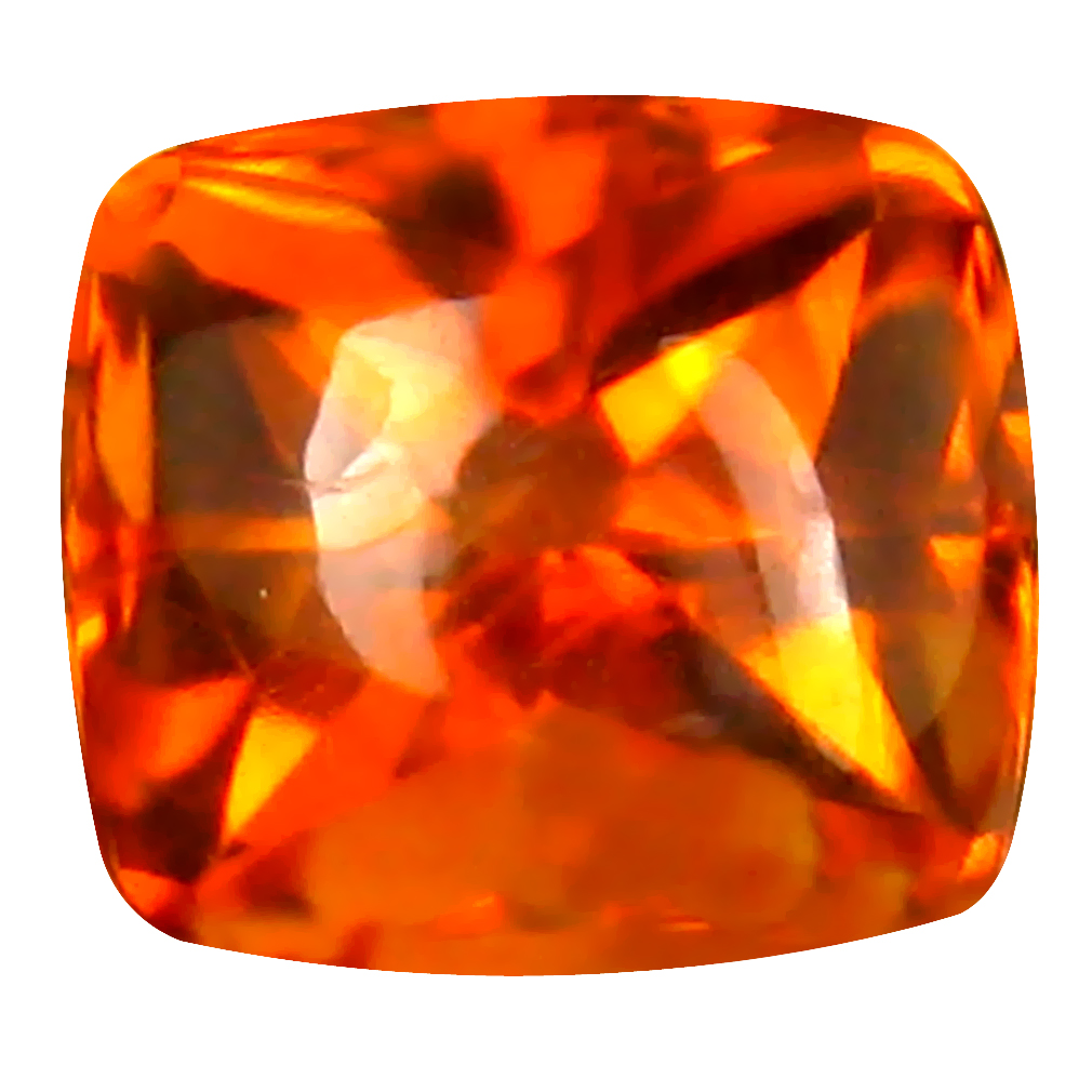 2.42 ct Pleasant Cushion (8 x 7 mm) Unheated / Untreated Brazil Madeira Citrine Loose Gemstone