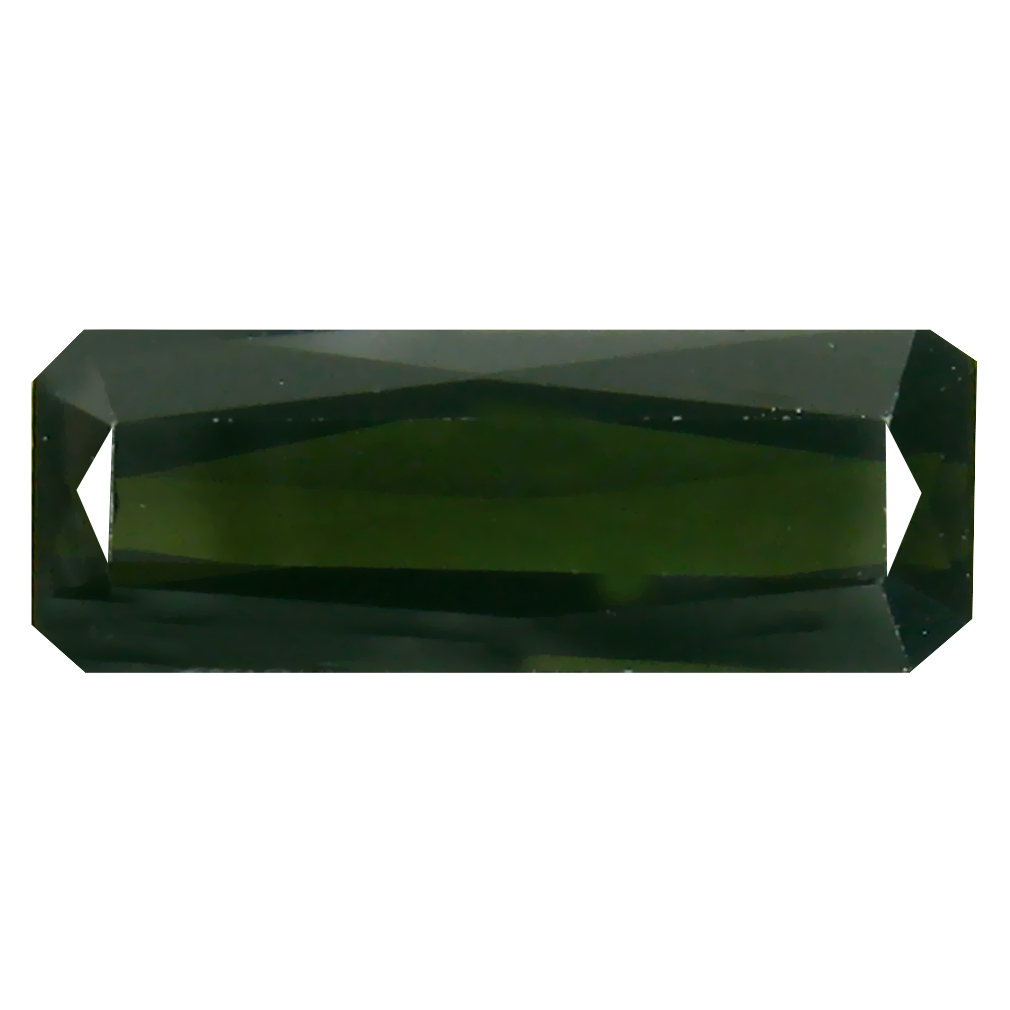 2.81 ct Fantastic Octagon (14 x 5 mm) Un-Heated Mozambique Green Tourmaline Loose Gemstone