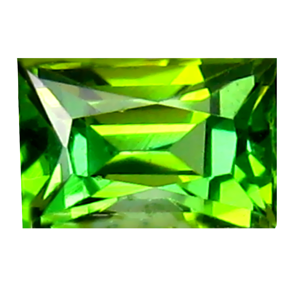 0.88 ct Magnificent fire Octagon (6 x 4 mm) Un-Heated Mozambique Green Tourmaline Loose Gemstone