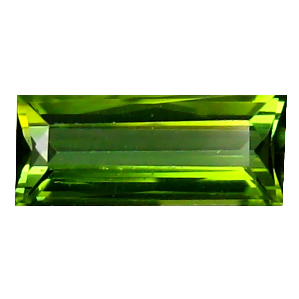 0.76 ct Good-looking Octagon (8 x 4 mm) Un-Heated Mozambique Green Tourmaline Loose Gemstone