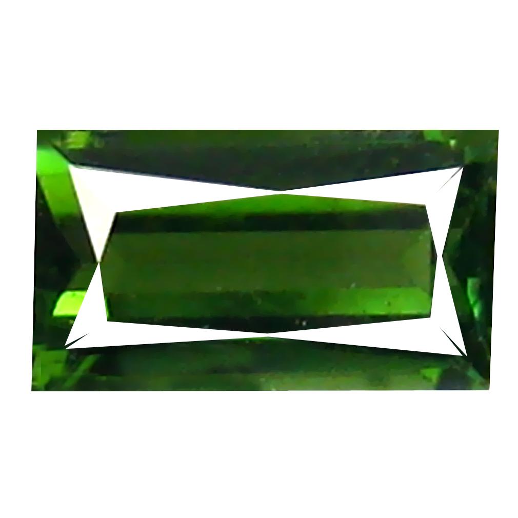0.62 ct Stunning Octagon (7 x 4 mm) Un-Heated Mozambique Green Tourmaline Loose Gemstone