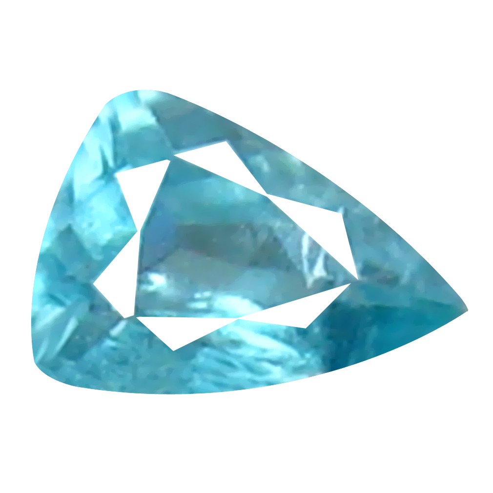 0.08 ct INCOMPARABLE TRILLION CUT (4 X 3 MM) UNHEATED / UNTREATED GREENISH BLUE GRANDIDIERITE NATURAL GEMSTONE