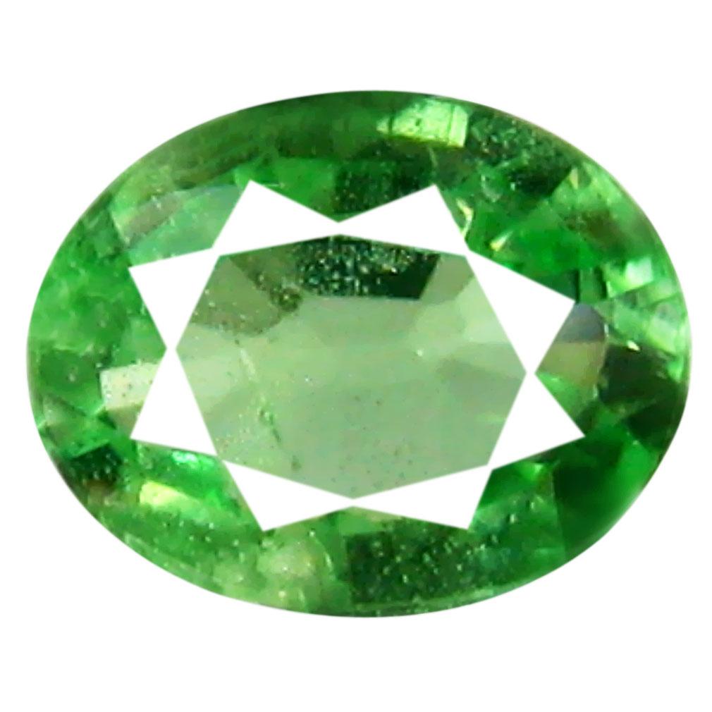 0.31 ct Remarkable Oval Cut (5 x 4 mm) Tanzanian Green Tsavorite Garnet Loose Gemstone