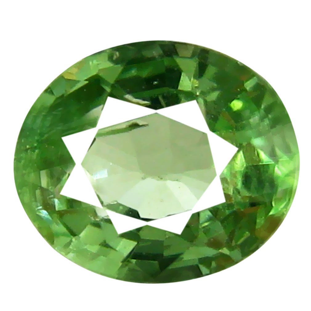0.46 ct Attractive Oval Cut (5 x 4 mm) Tanzanian Green Tsavorite Garnet Loose Gemstone