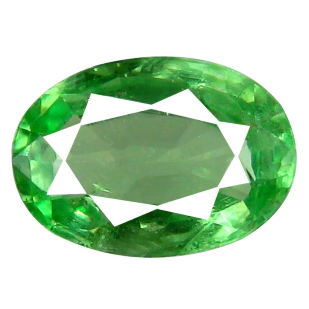0.60 ct Lovely Oval Cut (6 x 5 mm) Tanzanian Green Tsavorite Garnet Loose Gemstone