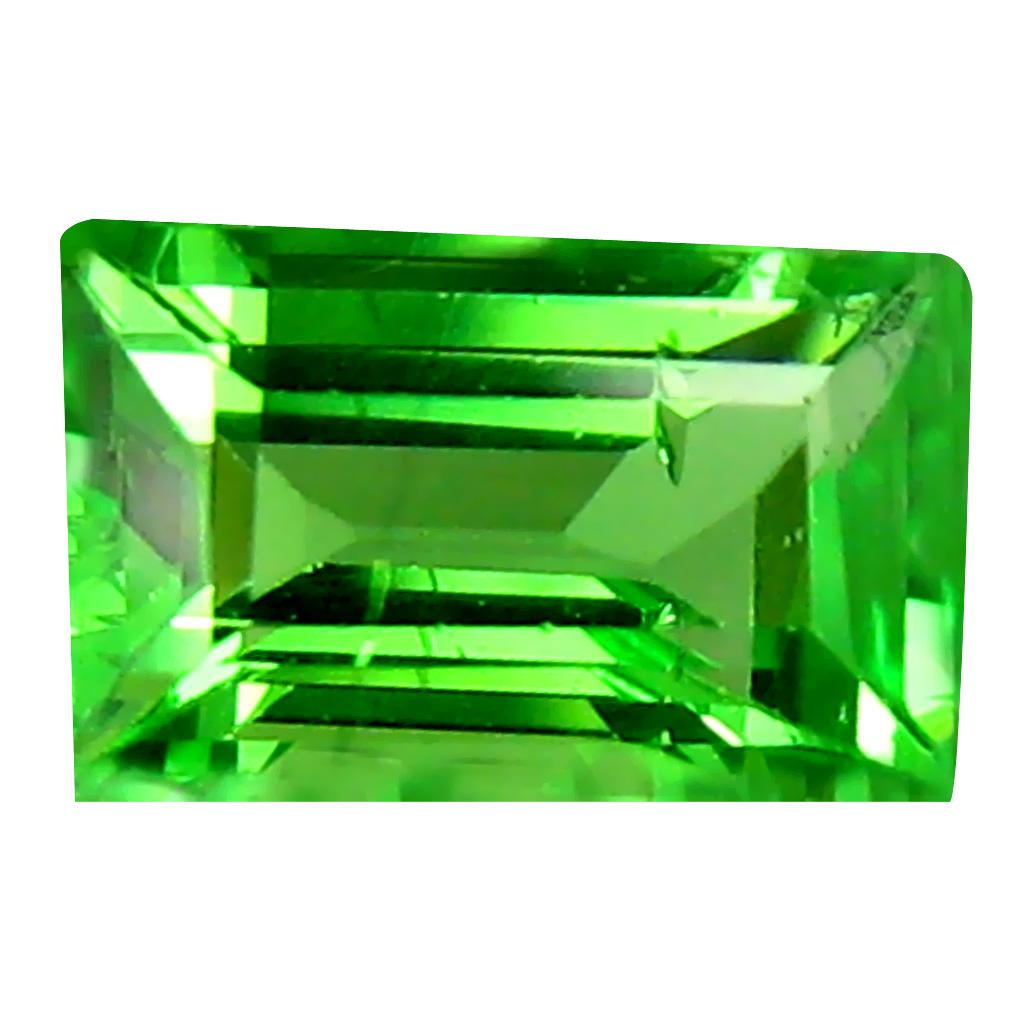 0.51 ct AAA Best Emerald Shape (6 x 4 mm) Green Tsavorite Garnet Natural Gemstone