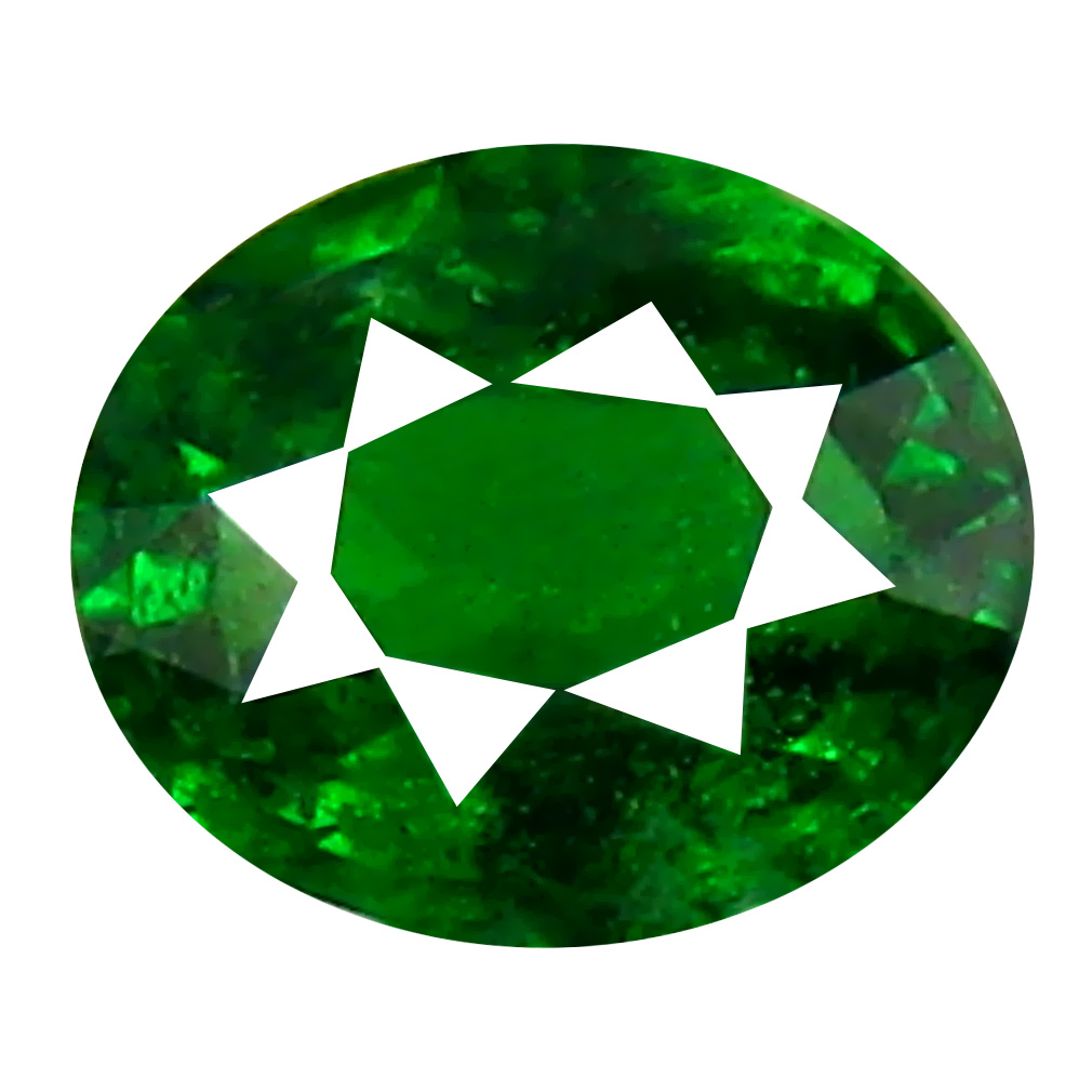 0.41 ct Splendid Oval Cut (5 x 4 mm) Tanzanian Green Tsavorite Garnet Loose Gemstone
