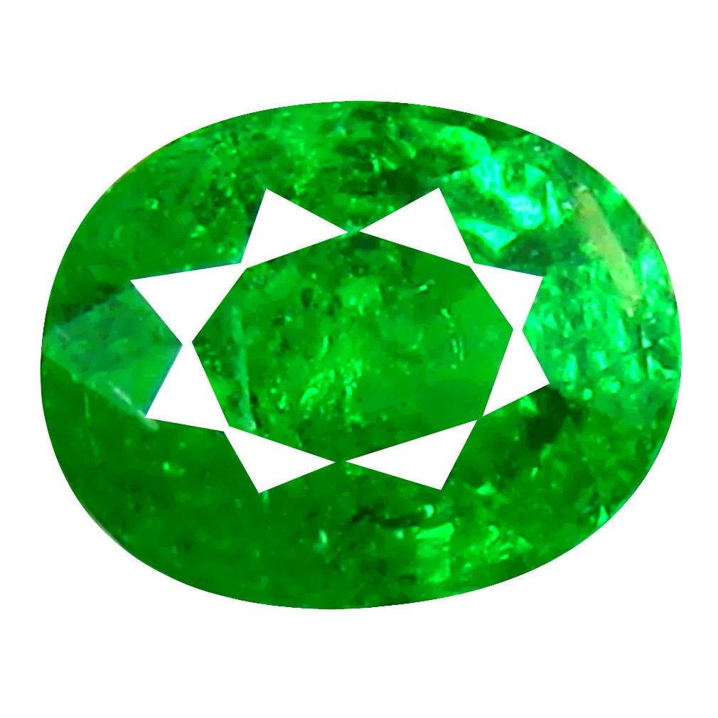0.51 ct Five-star Oval Cut (5 x 4 mm) Tanzanian Green Tsavorite Garnet Loose Gemstone