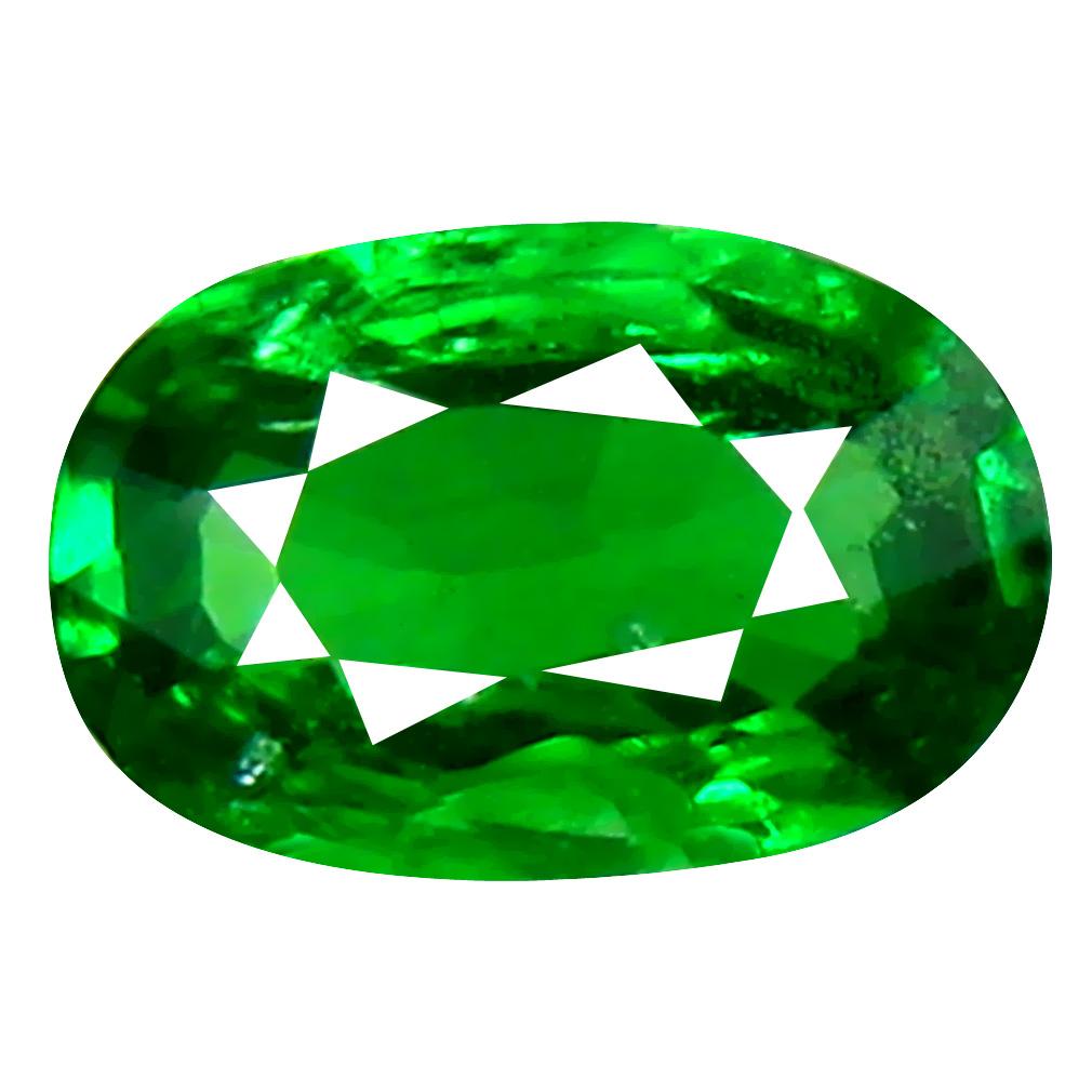 0.41 ct Grand looking Oval Cut (6 x 4 mm) Tanzanian Green Tsavorite Garnet Loose Gemstone