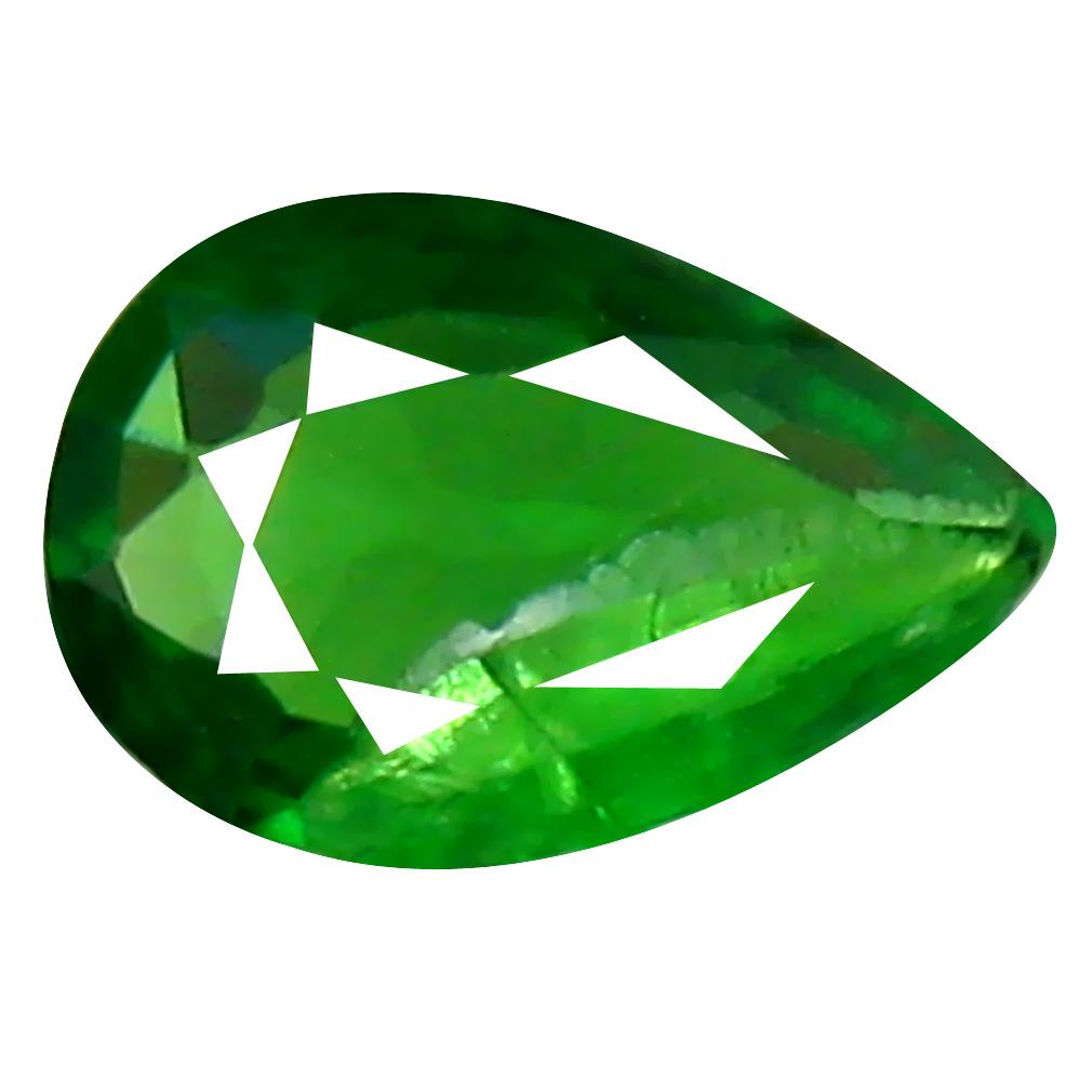 0.25 ct First-class Pear Cut (5 x 4 mm) Tanzanian Green Tsavorite Garnet Loose Gemstone
