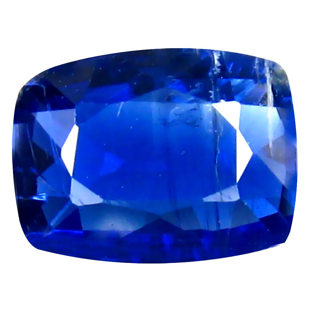 1.25 ct AA+ Outstanding Cushion Shape (8 x 6 mm) Blue Kyanite Natural Gemstone