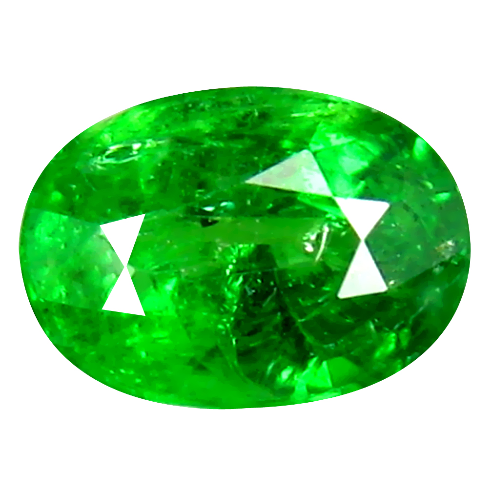 0.72 ct AAA Premium Oval Shape (6 x 4 mm) Green Tsavorite Garnet Natural Gemstone