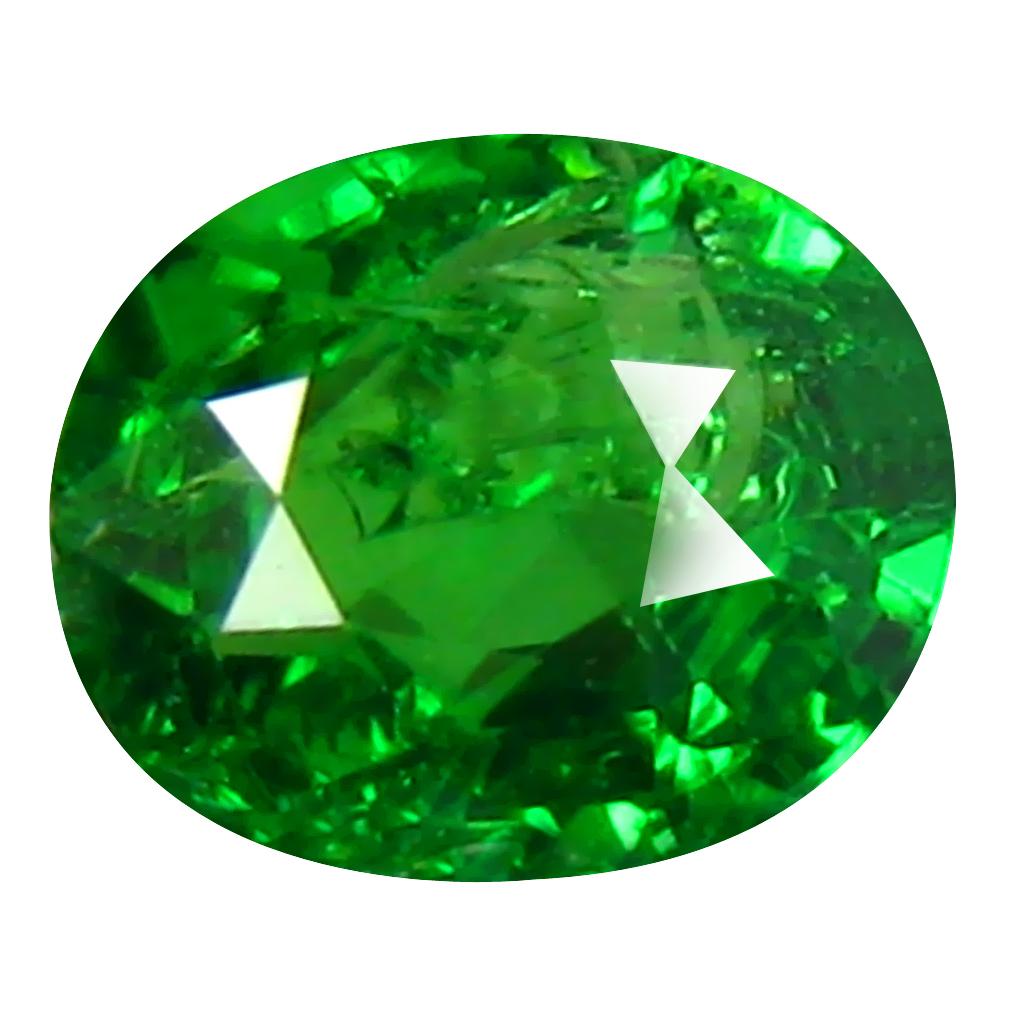 0.52 ct AAA Awe-inspiring Oval Shape (5 x 4 mm) Green Tsavorite Garnet Natural Gemstone