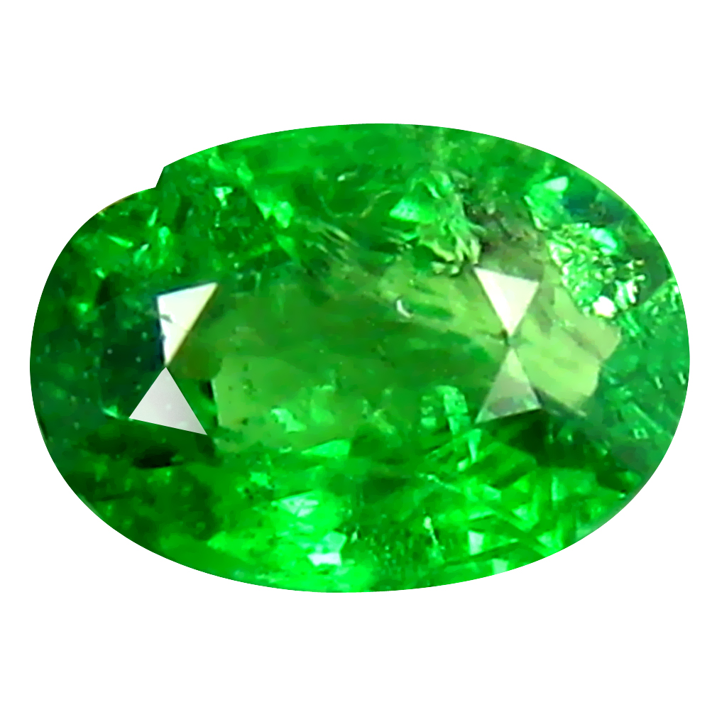 0.55 ct AAA Gorgeous Oval Shape (6 x 4 mm) Green Tsavorite Garnet Natural Gemstone