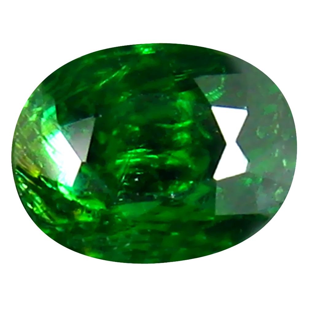 0.74 ct AAA Valuable Oval Shape (6 x 4 mm) Green Tsavorite Garnet Natural Gemstone
