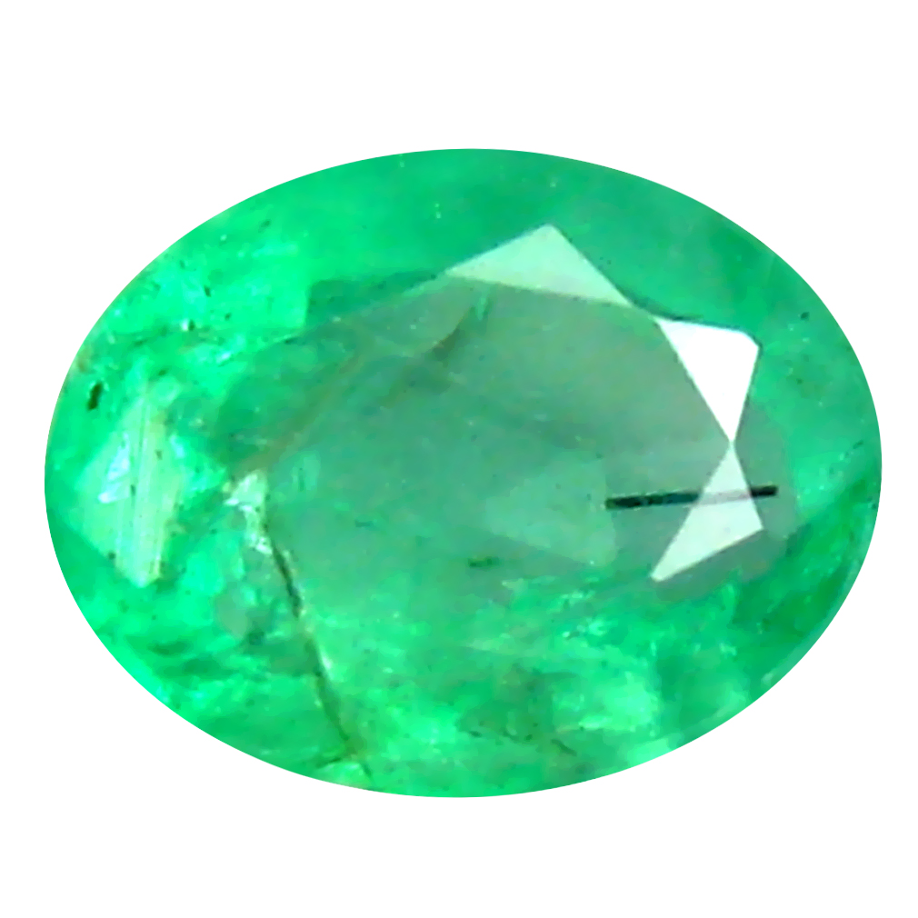 0.47 ct Superb Oval Cut (6 x 4 mm) Colombian Emerald Natural Gemstone