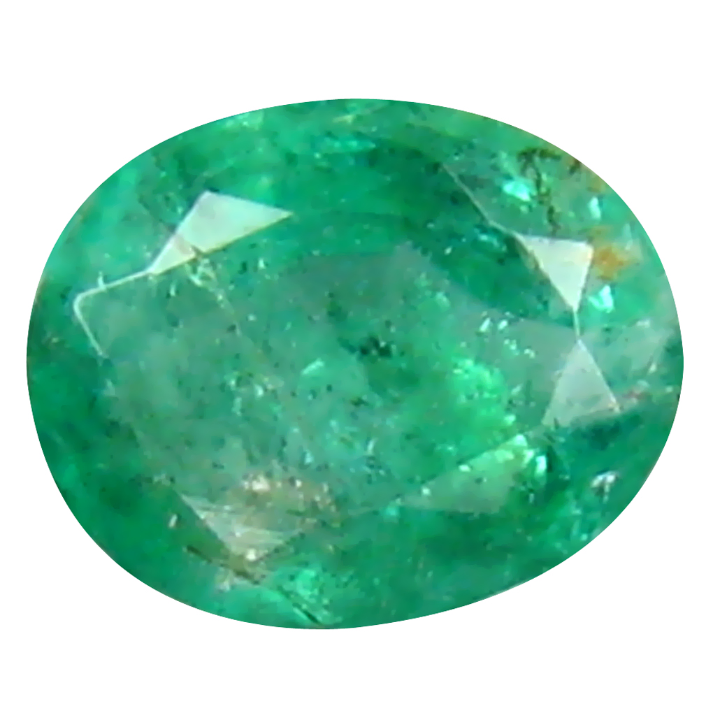 0.39 ct Phenomenal Oval Cut (5 x 4 mm) Colombian Emerald Natural Gemstone
