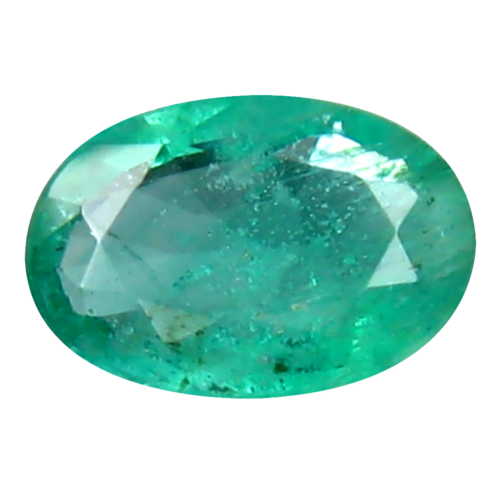 0.47 ct Attractive Oval Cut (6 x 4 mm) Colombian Emerald Natural Gemstone