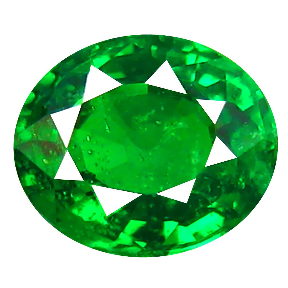 0.44 ct Elegant Oval Cut (5 x 4 mm) Tanzanian Green Tsavorite Garnet Loose Gemstone