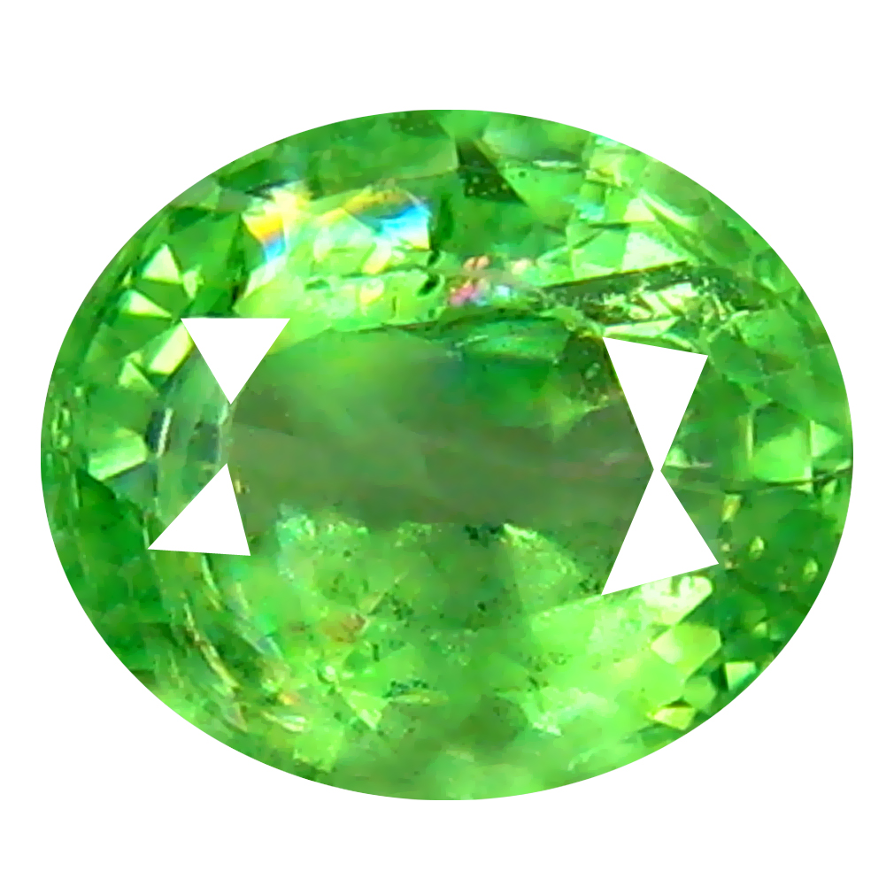 0.61 ct Sparkling Oval Cut (5 x 5 mm) Tanzanian Green Tsavorite Garnet Loose Gemstone